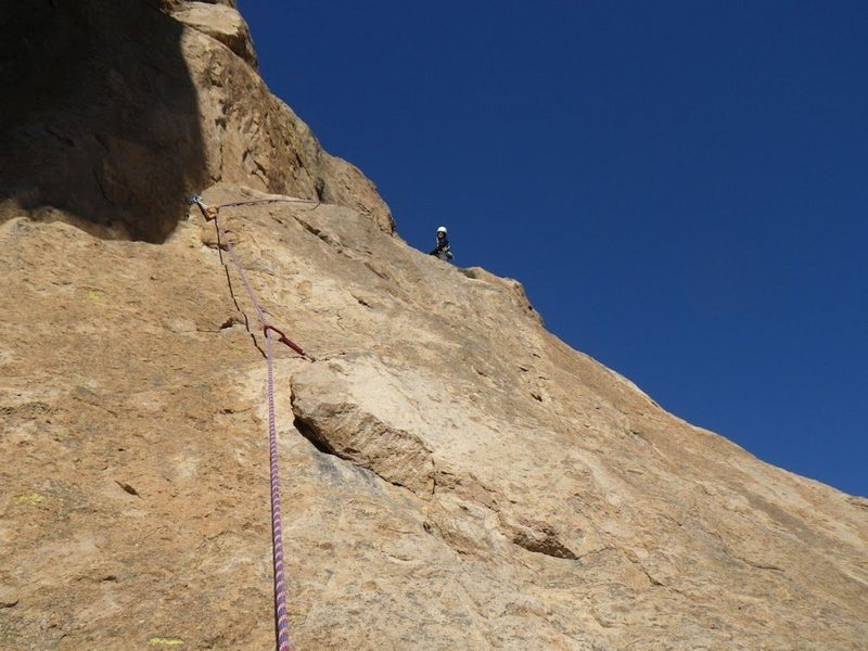 Rock Climbing Photo: Nearing the top of pitch 2.