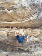 Rock Climbing Photo: Traverse at the mouth.