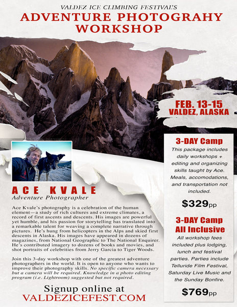 This year we are even offering a adventure film camp hosted by Ace Kvale.<br> <br>