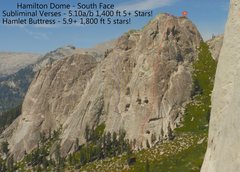 Rock Climbing Photo: The Hamilton Dome with both lines on the South Fac...