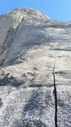 Rock Climbing Photo: Beginning of the climb (pitch 1)