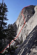 Rock Climbing Photo: The route takes sunlit buttress in the middle