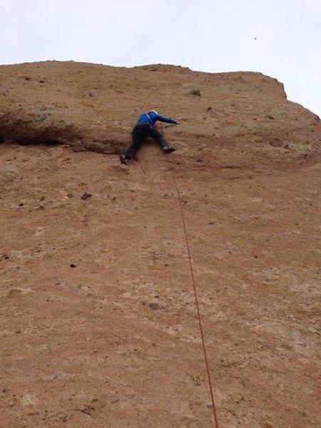 Rock Climbing Photo: Initial crux move. Feels like a much bigger stretc...