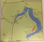 Rock Climbing Photo: Map for the areas in Lincoln lake