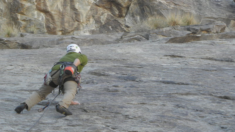 Rock Climbing Photo: John Shippling on the FA of Slaughtumn.