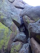 Rock Climbing Photo: The first portion of the route.