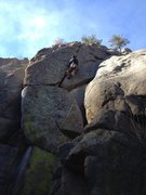 Rock Climbing Photo: In the crack.