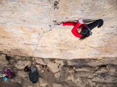 Rock Climbing Photo: Viviana rose clipping after the crux. A crux? One ...