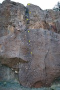 Rock Climbing Photo: Unnamed slab route.