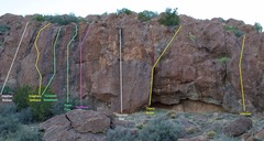 Rock Climbing Photo: Overview of Wallflower Wall area