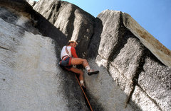 "Rock Climbing Photo: Urmas Franosch leads ""Mandric"" (5.11b di..."