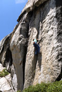"Rock Climbing Photo: TRing ""Penguin Cafe"" (5.11a) on the firs..."
