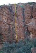 Rock Climbing Photo: Formerly unnamed spook slab climbs. Casper is the ...