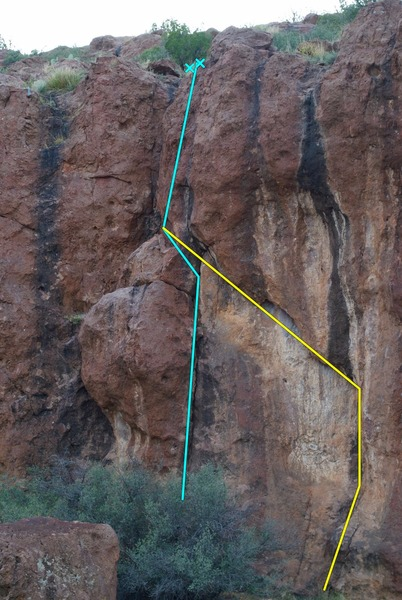 Rock Climbing Photo: Two trad lines at spook. Mandatory orientation goe...