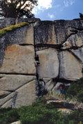"Rock Climbing Photo: Couple top-roping the ""Cash Register"" (5..."