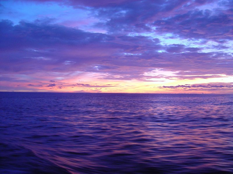 Sunrise on the ocean.