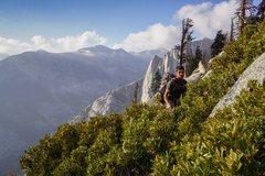 Rock Climbing Photo: bush whacking
