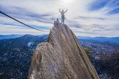 Rock Climbing Photo: flying butt