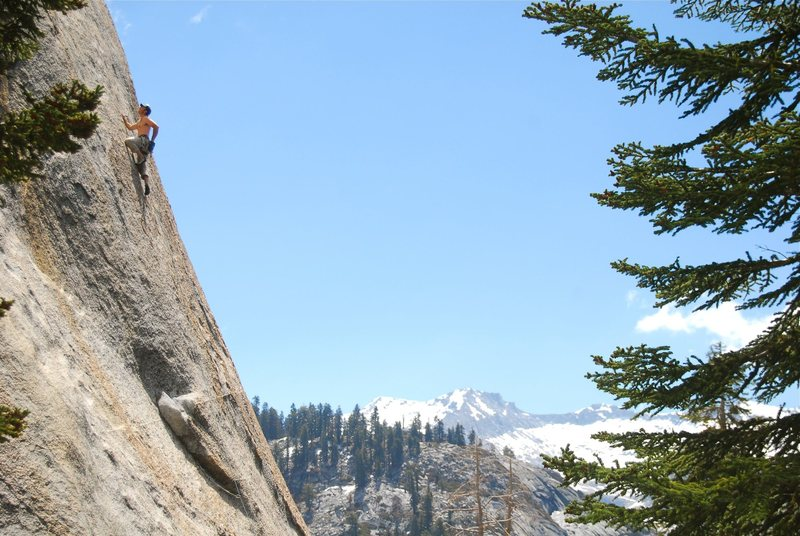 quite the setting for some great granite face climbing