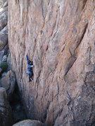 """Rock Climbing Photo: F.A. """"Tenacious D"""" 5.10d *** Gunga din a..."""