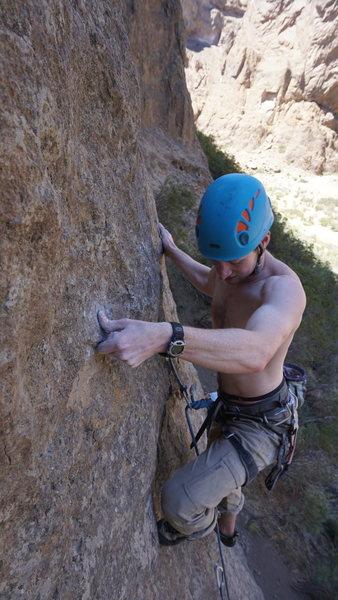 Rock Climbing Photo: tough slab