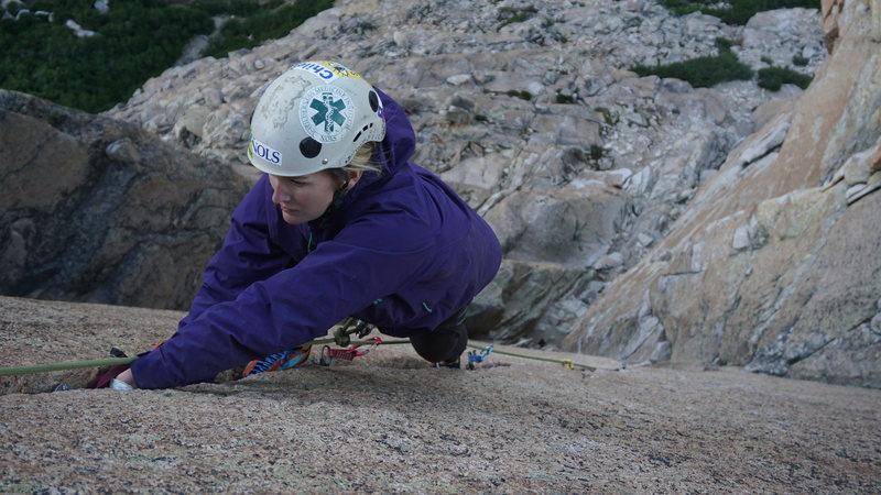 Rock Climbing Photo: First crack climb?!