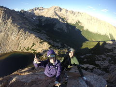 Rock Climbing Photo: Erin & Xavier summit shot