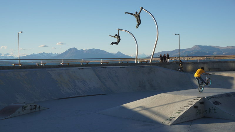 The coolest skate park ever in Puerto Natales