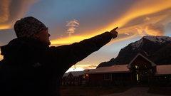 Rock Climbing Photo: Sunset at Hotel Torres