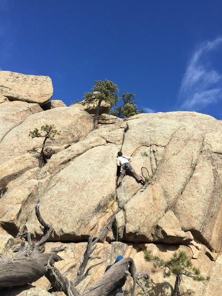 Marc Hemmes on the second ascent.