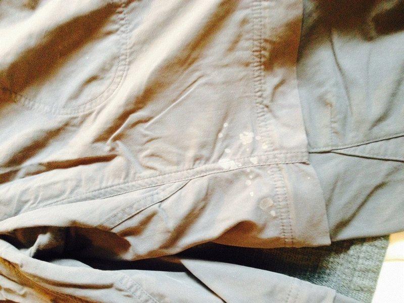 Pant front, left leg