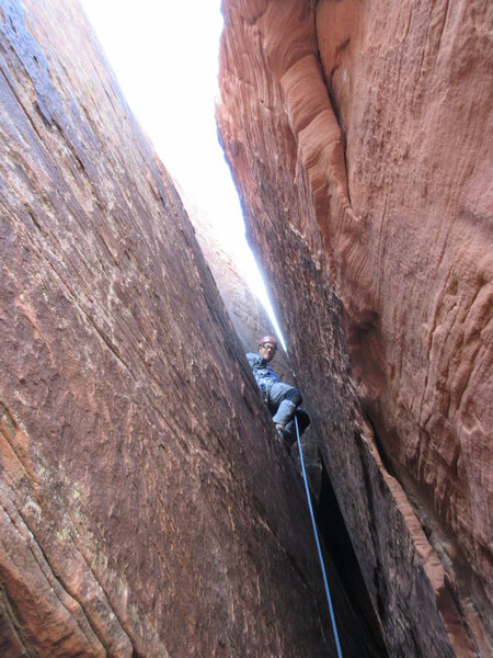 Rock Climbing Photo: After the crux of The Wallow (5.6-5.7).