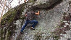 Rock Climbing Photo: A little foot work on Minimun Height Required