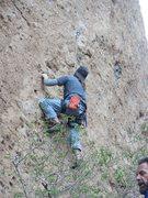 Rock Climbing Photo: Jeff on Unknown 5.11