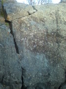 Rock Climbing Photo: Yellow Brick Road 5.11a (Right) and No Hands 5.10a...