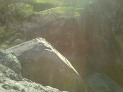 Rock Climbing Photo: Bolts for Freeway 5.6, Face it 5.10c and Pull Up 5...