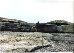Rock Climbing Photo: There is a fun little pseudo roof to go over about...