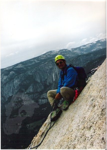 Great view and exposure while belaying - Lloyd Ritchey