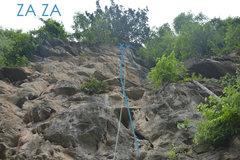 Rock Climbing Photo: Rope at the anchors of 'Za Za'