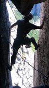 Rock Climbing Photo: P9 of Homo Santa on Mini Frey/El Piñon. Photo by ...