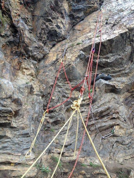 Anchor building practice at Glen Canyon