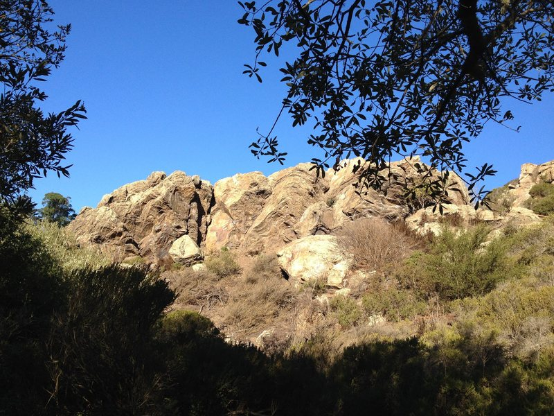 Beautiful morning boulder at Glen Canyon