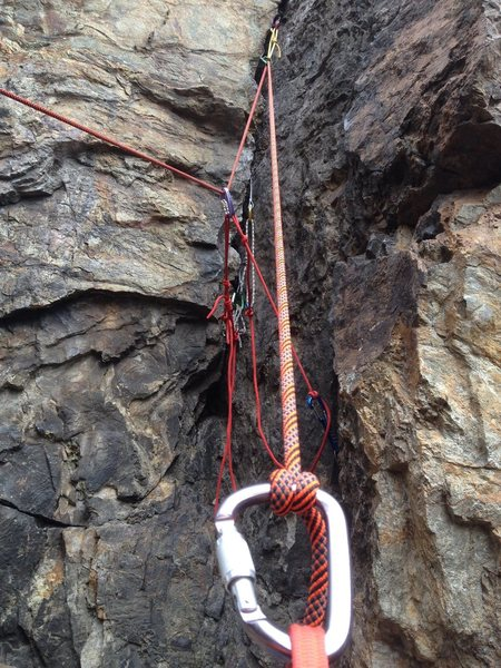 More anchor practice at Glen Canyon. Thanks for holding my rope tree!