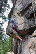 Rock Climbing Photo: Sweet dyno move...