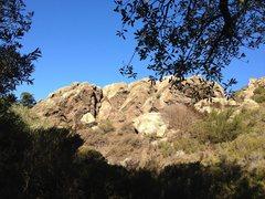 Rock Climbing Photo: Main boulder at Glen Canyon