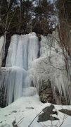 Rock Climbing Photo: The halfway ice