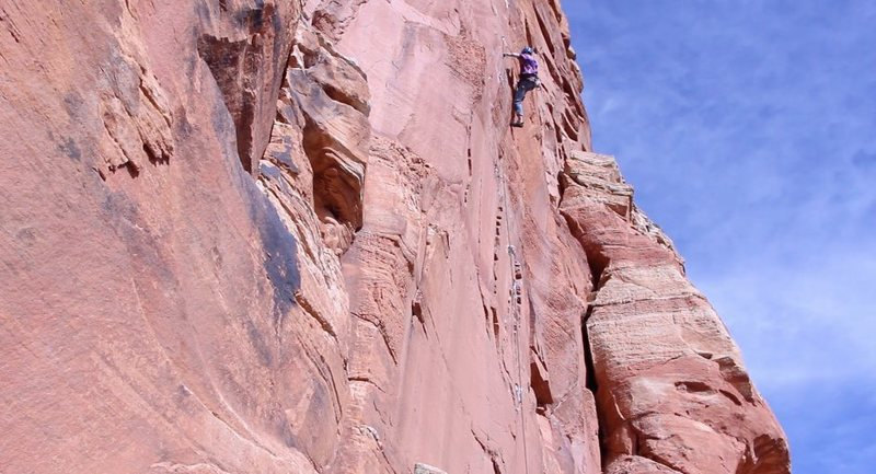 Rock Climbing Photo: Cuz Zach in the uppers.