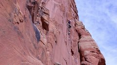 Rock Climbing Photo: Sports. Beer-ed camera. Dyno Strike!