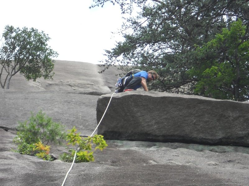Rock Climbing Photo: Good foot placement is the key for the Block move....