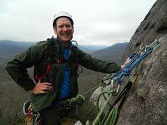 Rock Climbing Photo: Sundial Crack, Looking Glass, NC